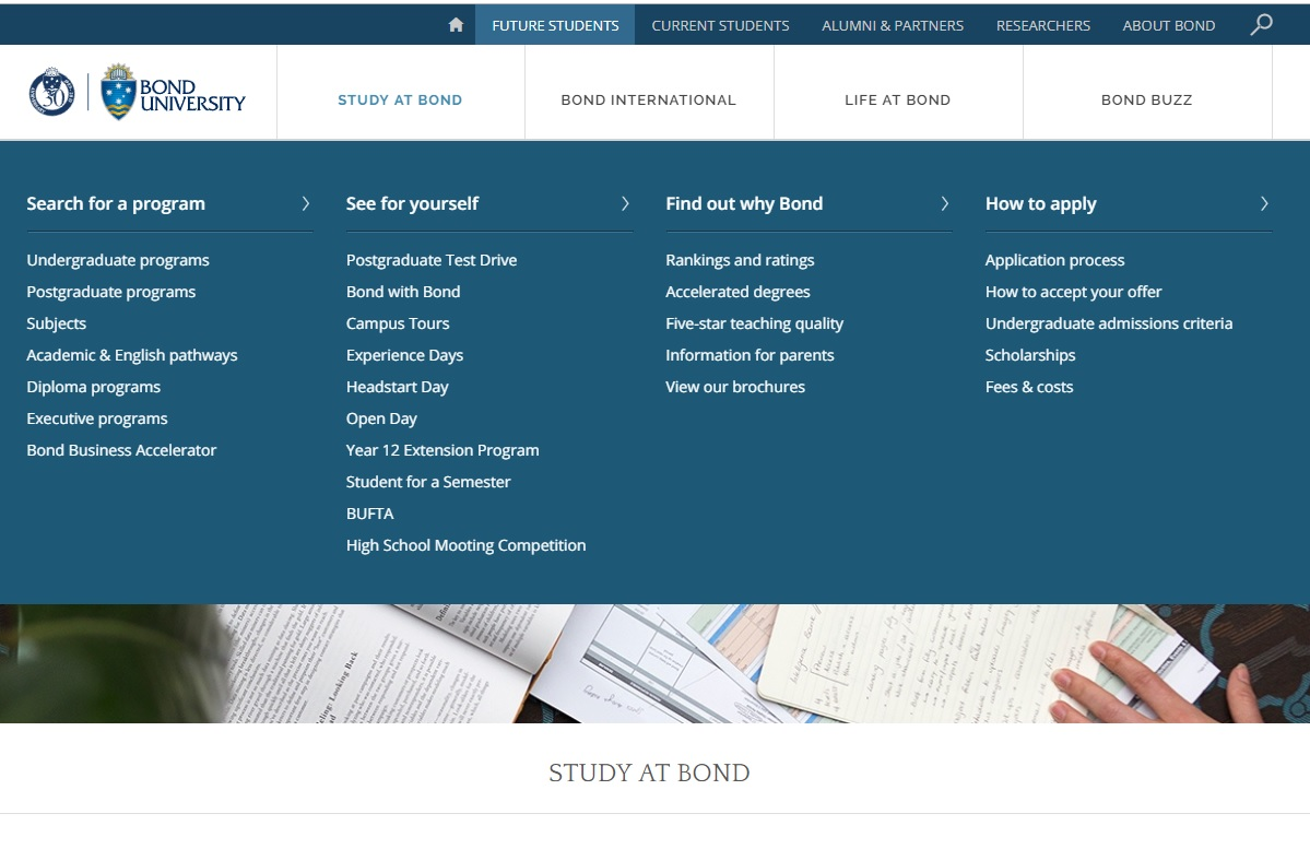 Good Practice Note - Admissions Transparency -  Figure 3 - Bond University