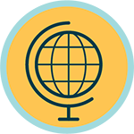 Icon for international perspective