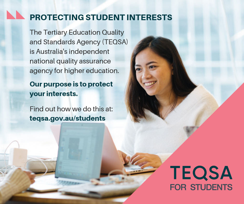 TEQSA for students Facebook post